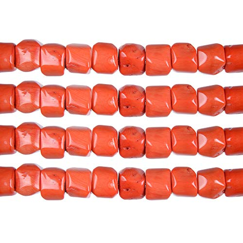 - THETASTEJEWELRY 13-15mm Mix Sizes Orange Coral Nugget Beads Loose Beads 15