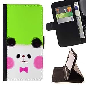 For HTC One Mini 2 M8 MINI Case , Perrito blanco lindo del dibujo- la tarjeta de Crédito Slots PU Funda de cuero Monedero caso cubierta de piel