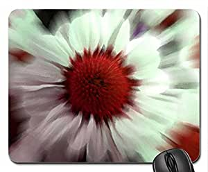 Red Spiral Mouse Pad, Mousepad (Flowers Mouse Pad, Watercolor style) by mcsharks