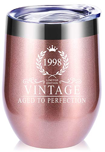 1998 21th Birthday Gifts for Women.Funny Vintage Aged To Perfection Glasses Tumbler.Birthday Gifts,Anniversary Gift for Mom,Wife,Sister,Best Friends,co-worker,Birthday Party Mug