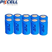 10 Pack ER14250 1/2AA 1200mAh 3.6V Lithium Batteries for Mac computers