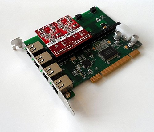 Atcom AX400P-02 4 Port Analog PCI Asterisk Card with 0 FXS 2 FXO