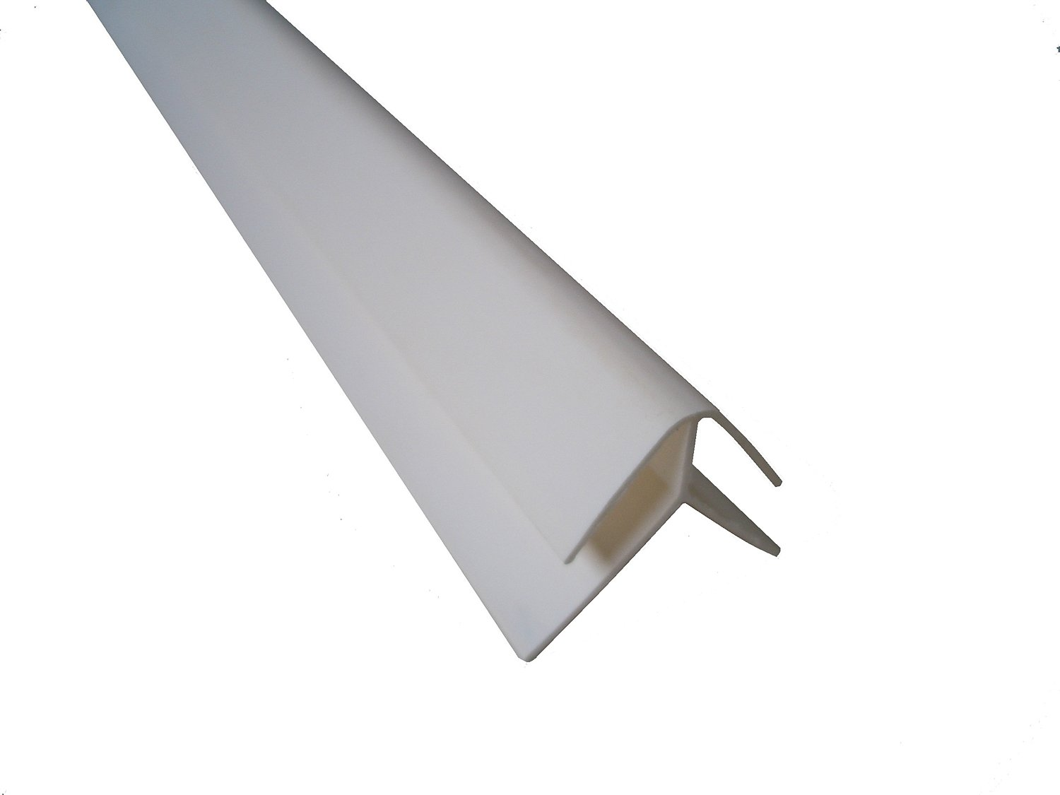 White Panel Trim Perfect For Bathroom Kitchen Shower Wall PVC Cladding Panels-5mm External Corner Edging Trim-100% Waterproof-Use with Claddtech Adhesive