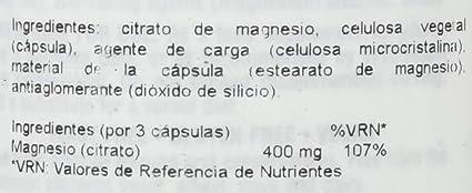 Natures Plus Kalm-Assure Magnesium 400mg Magnesium Citrate - 90 VCaps: Amazon.es: Salud y cuidado personal