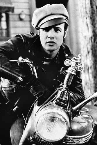 Lweike Marln Brand as John in The Wild One 24x36 Poster in L