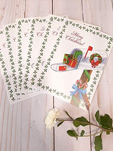 Mail Carrier Thank You Cards 10 pack (Christmas Mail Cards Carrier)