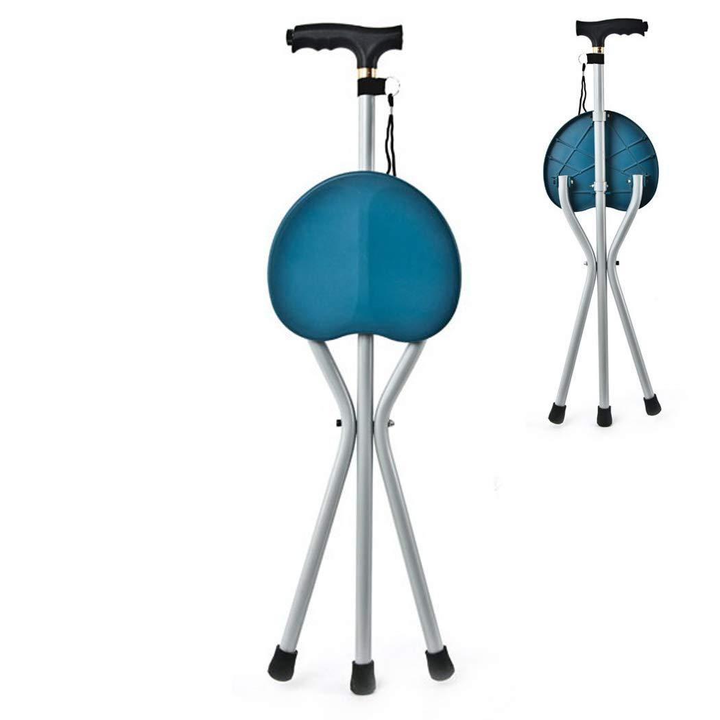 2019激安通販 YGUOZ ライト 杖椅子 折りたたみ、LED ライト YGUOZ 高齢者のために B07P8DWXXX、ステッキ椅子 携帯型 調整可能、杖 ステッキ 5 高さ調節可能,blue blue B07P8DWXXX, 【売り切り御免!】:927c6ff6 --- a0267596.xsph.ru