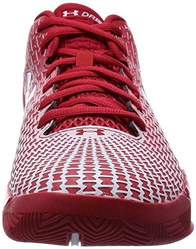 Zapatilla Clutchfit Drive Low de Under Armour. - rojo / blanco