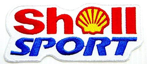 SHELL Motor Oil Fuel Gas Gasoline Station Logo Sign Sponsor Motorsport Racing Biker Team Patch Iron on Applique Embroidered T shirt Jacket Costume BY SURAPAN