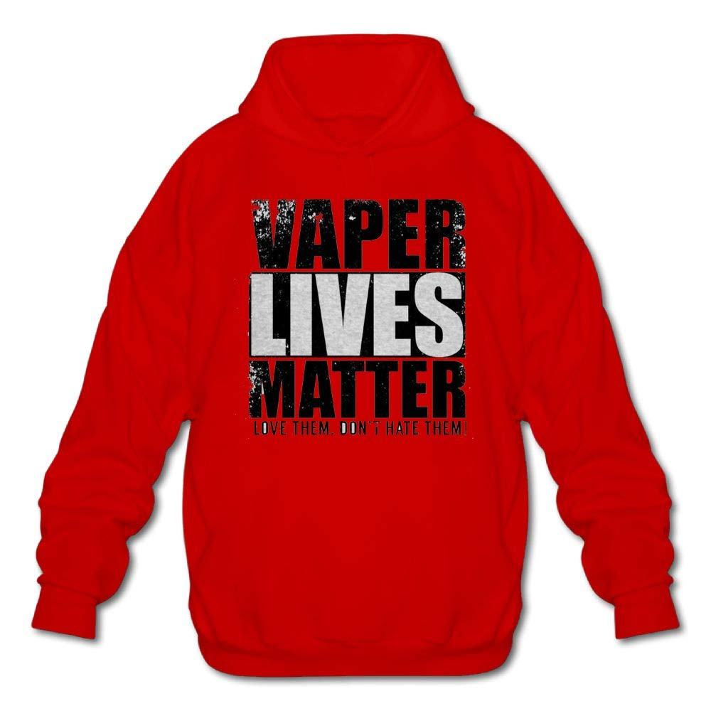 Mens Long Sleeve Cotton Hoodie Vaper Lives Matter I Love Them Dont Hate Them Sweatshirt