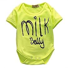 Infant Baby Boy Girl Letter Print Romper Onesie Bodysuit Jumpsuit for 0-2 Years