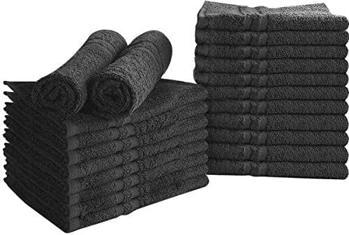 Utopia Towels Bleach Proof Salon Towels, Black, (16 x 27 Inches), Color safe, Stain Resistant, Quick Drying Towels for Beauty, Hair, Gym, Spa, (Pack of 24)