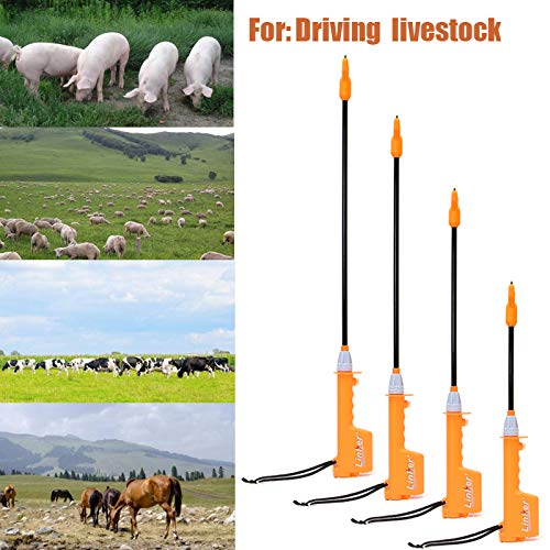'Electric Livestock Prod Black Orange Cattle HotShot Handle Swine Prod Tools 32cm/56cm/66cm/82cm'