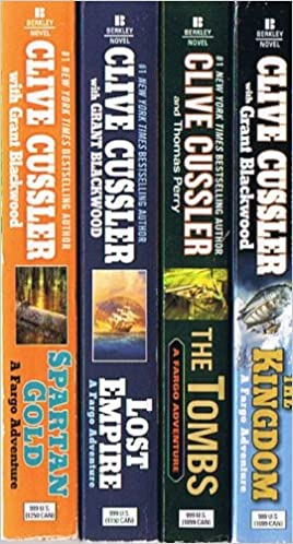 Clive Cussler Fargo Adventure 4 Volumes Spartan Gold The Tombs Lost Empire The Kingdom Amazon Com Books