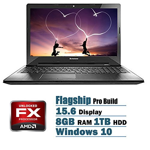 Lenovo Pro Flagship Edition 15.6 Laptop AMD FX-7500 Quad-Core AMD Radeon R7 8GB 1TB DVD Windows 10