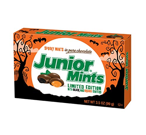 Halloween Spooky Junior Mint Chocolate Candy Movie Theater Box, 3.5 oz (Pack of 3)