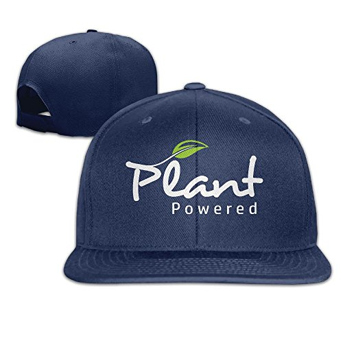 Yishuo Men Standard Vegan T-shirt Plant Powered Casual Style Football Navy Cap Hat Adjustable Snapback