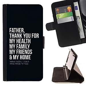 KingStore / Leather Etui en cuir / HTC Desire 820 / Padre BIBLIA Gracias
