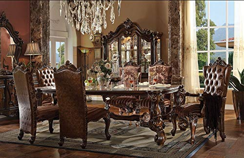 ACME Versailles Cherry Oak Dining Table (Table Cherry Acme Furniture)