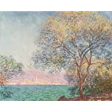 Canvas Prints Of Oil Painting ' Antibes Seen From The Salis Garden,1888 By Claude Monet ' , 8 x 10 inch / 20 x 25 cm , Polyster Canvas Is For Gifts And Basement, Game Room And Gym Decoration, quick