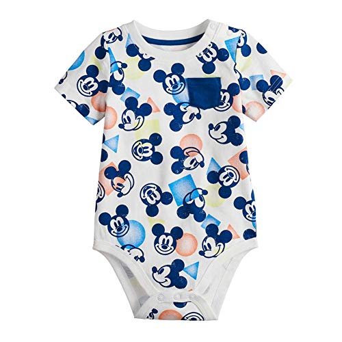 Mickey Mouse Baby Boys' Bodysuit Dress Up Outfit White (12 Months)]()