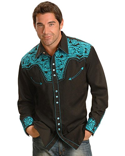 Scully Men's Turquoise Gunfighter Western Shirt Turquoise Medium