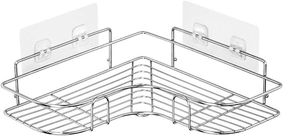 THUS Corner Shower Caddy Basket Shelf, Shampoo Holder Organizer, No Drilling Adhesive Wall Mounted Bathroom Shelf, Stainless Steel Storage Organizer for Bathroom, Toilet, Kitchen and Dorm: Home Improvement
