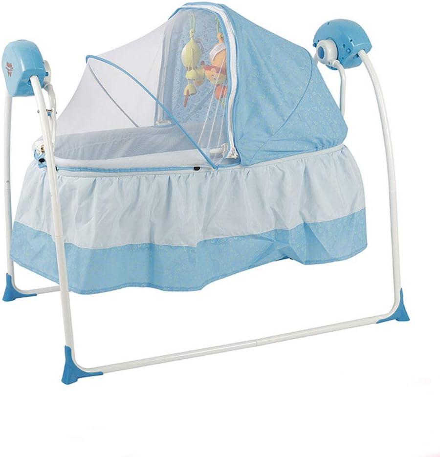 Thole Columpio De Cuna para Bebé Soporte EléCtrico MúSica Oscilante Control Remoto Cama para Dormir Cama ReciéN Nacidos Sway Swing para Bebé