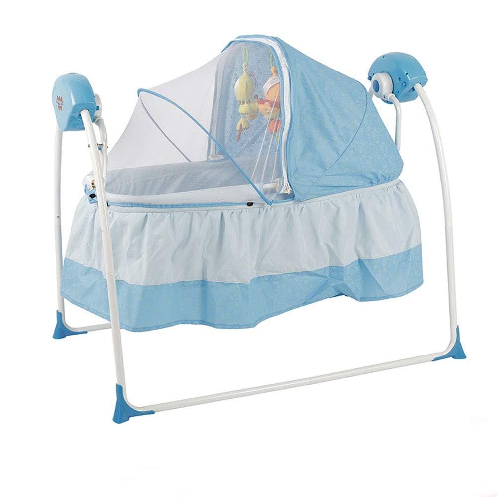 ベビースイング ベビーチェア 電動 ベビーバウンサー 新生児 スマート クッション 音楽/振動ボックス 調節可能 0-36ヶ月 B07PRMFPKN blue