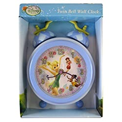 Disney Fairies Twin Bell Tinkerbell Wall Clock - Tinkerbell Clock
