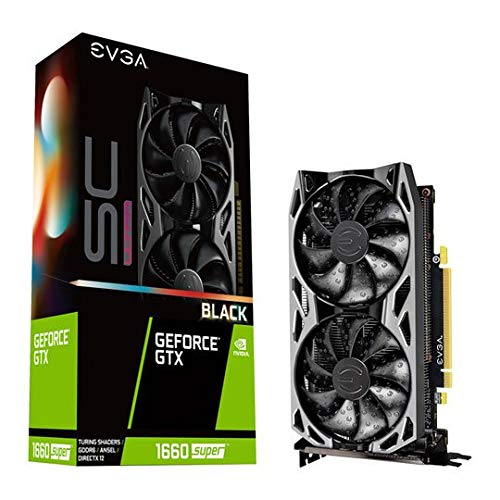 Dual Fan 06G-P4-1066-Kr 6GB GDDR6 Metal Backplate EVGA GeForce GTX 1660 Super SC Ultra Black Gaming