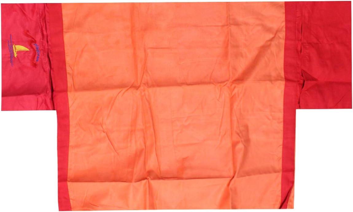Russo Tessuti Telo Microfibra Spiaggia Piscina Mare Coprilettino Elastici Tasche Portaoggetti Arancione