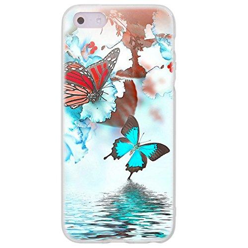 Ooh. Color 025605_ nfl036Roman Flower Table Orchidée Motif fille avec étui de protection bumper TPU souple en silicone pour Apple iPhone 5/5S Transparent