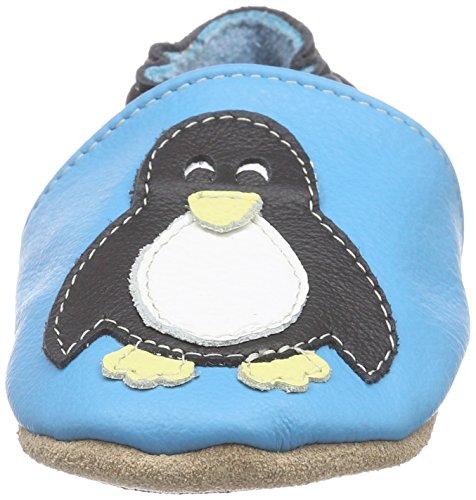 HOBEA-Germany Lauflernschuhe Pinguin - Pantuflas para bebés Turquesa (türkis)