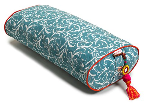Chattra Sky Feather Oval Yoga Bolster