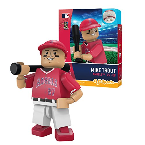 Oyo Sportstoys MLB Los Angeles Angels of Anaheim Sports Fan Bobble Head Toy Figures, red/White, One - Mini Mlb Angels
