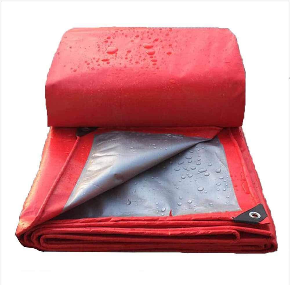 SZ JIAOJIAO Telone Esterno Ispessimento Telone Antipioggia Isolamento Termico Protezione Solare Ombrello Rosso Tenda,2X3m