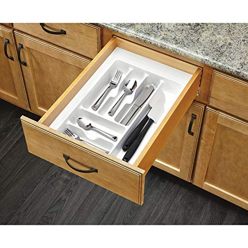 -52 - Medium Glossy White Cutlery Tray Drawer Insert ()