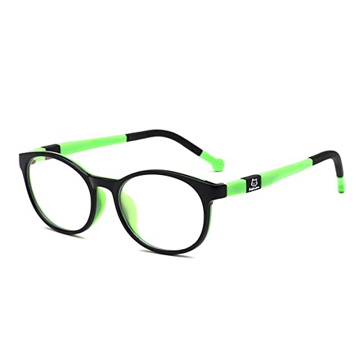 c0417596bd Amazon.com  Fantia Kids Safety Flex Optical Round Eye Glasses Prescription  Glasses (Black and Green)  Clothing