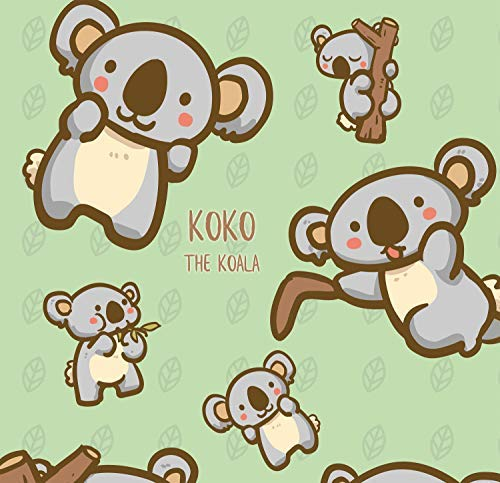 Koko The Koala Bear - Design Gift Wrapping Paper | for Baby Showers, Kids Birthdays, Christmas Gifts | Unique Unisex Print | Wrap A Birthday Parcel & Present | 5 Sheets | 20 x 28 Inches