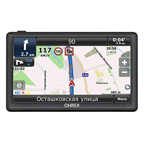 OHREX 718 Premium Pack 7 Inch Portable Touchscreen Bluetooth AV-in Truck Car GPS Satellite Navigation - Licensed Full World Maps and Free Lifetime Update