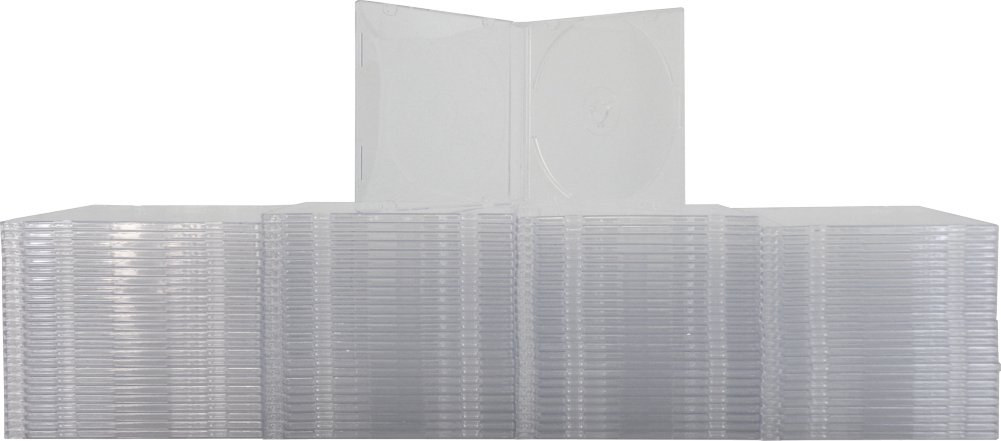 Yens 100 SLIM Clear CD Jewel Cases
