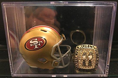 San Montana Ring Francisco 49ers (San Francisco 49ers Super Bowl XIX Ring and Helmet shadowbox)