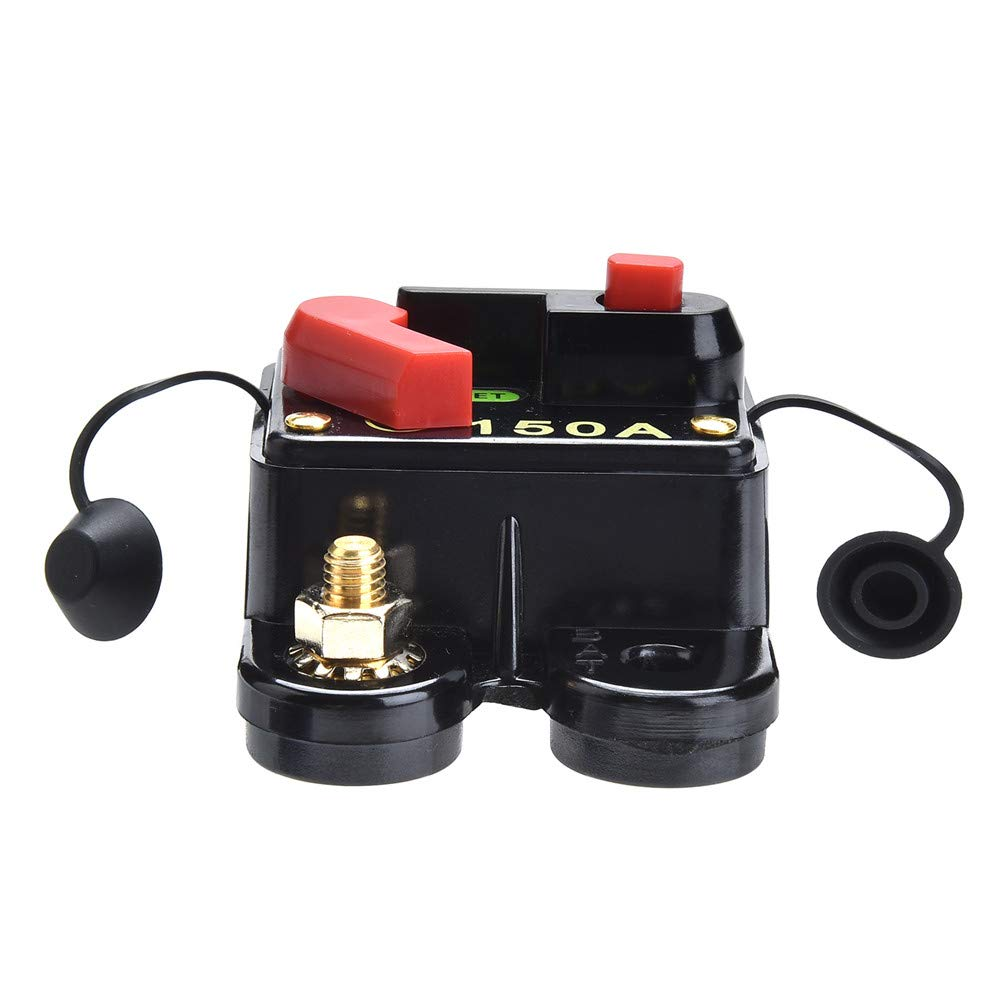 Qiorange Dc 12v 24v 60 Amp Circuit Breaker Fuse Holder Inline Replace Switch Button 60a Voltagein Block