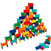 Bulk Dominoes Plastic Mixed Colors 100pcs