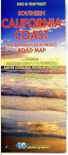 Southern California Coast and Northern Baja/Mexico Road Map (Road Map Southern California)