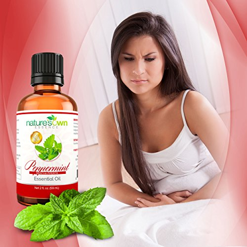 Real Peppermint Essential Oil :: Pure Undiluted (2oz) Plus Bonus Ebook of 50 Uses