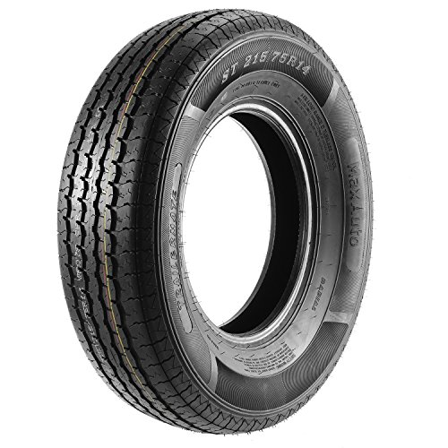 ST215/75R14 Load Range D MaxAuto Radial Trailer Tires ST215/75R-14 8Ply(Pack of 4) by MaxAuto (Image #1)
