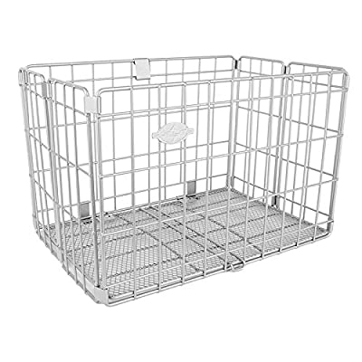 SUNLITE Rear Wire Folding Basket, Silver : Bike Baskets : Sports & Outdoors