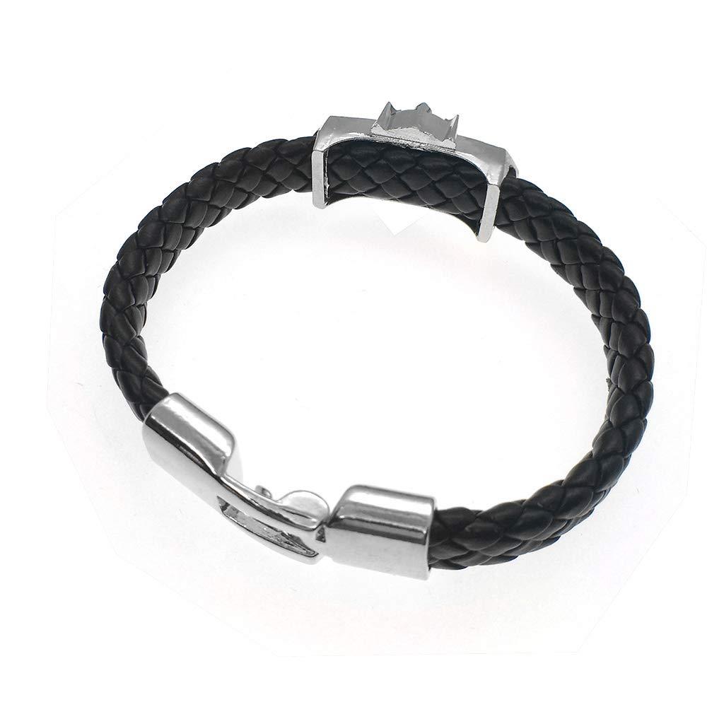 GOOKEY Wolf Mens Leather Bracelet Evil Eye Braided Bracelet The Great Gifts for Men